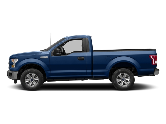 Lightning Blue 2017 Ford F-150 Pictures F-150 Regular Cab XLT 4WD photos side view