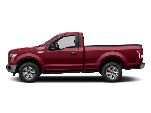 Ruby Red Metallic Tinted Clearcoat 2017 Ford F-150 Pictures F-150 Regular Cab XLT 4WD photos side view
