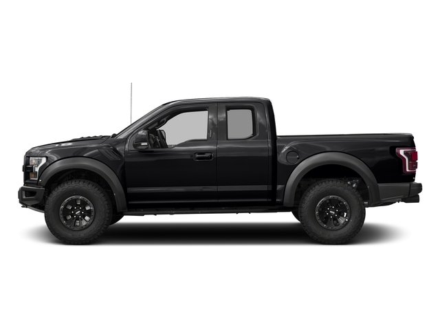 Shadow Black 2017 Ford F-150 Pictures F-150 SuperCab Raptor 4WD photos side view
