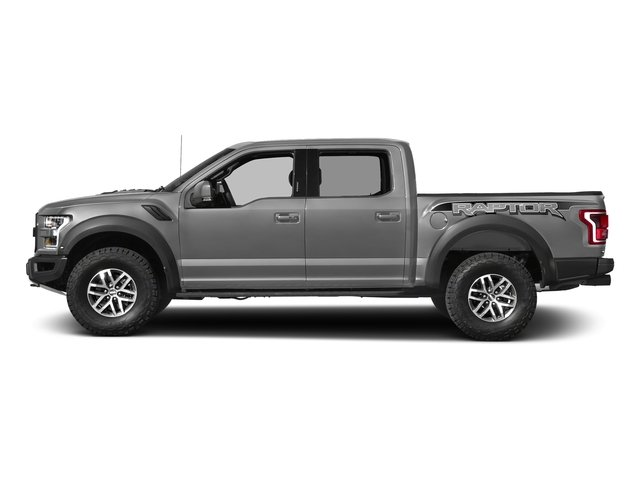 Ingot Silver Metallic 2017 Ford F-150 Pictures F-150 Crew Cab Raptor 4WD photos side view
