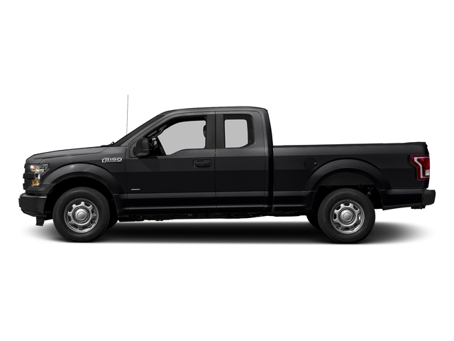 Shadow Black 2017 Ford F-150 Pictures F-150 Supercab XL 4WD photos side view