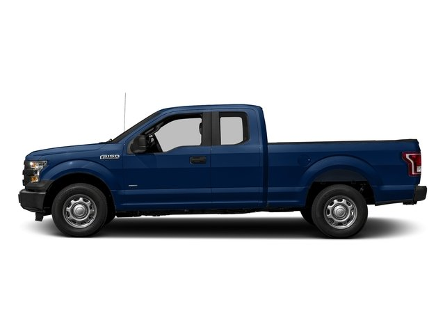Lightning Blue 2017 Ford F-150 Pictures F-150 Supercab XL 4WD photos side view