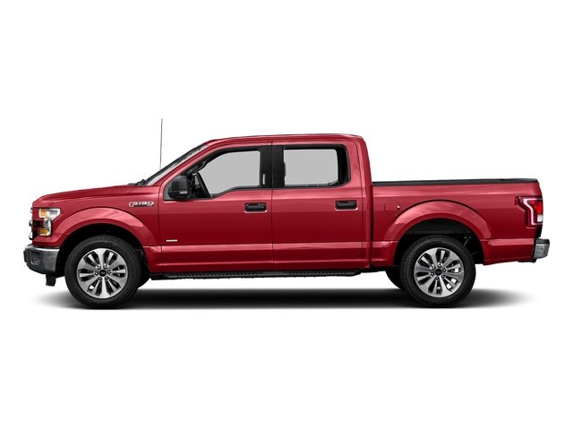Ruby Red Metallic Tinted Clearcoat 2017 Ford F-150 Pictures F-150 Crew Cab XLT 2WD photos side view