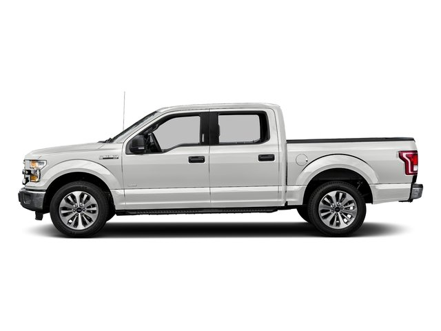 Oxford White 2017 Ford F-150 Pictures F-150 Crew Cab XLT 2WD photos side view