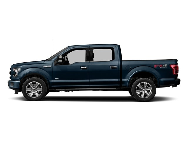 Blue Jeans Metallic 2017 Ford F-150 Pictures F-150 Crew Cab Platinum 2WD photos side view