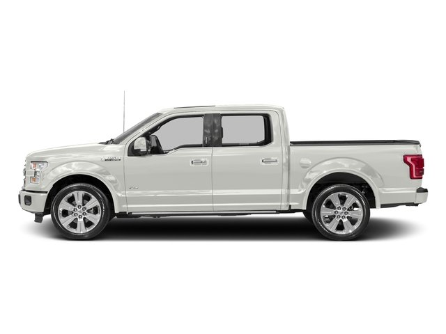 White Platinum Metallic Tri-Coat 2017 Ford F-150 Pictures F-150 Crew Cab Limited EcoBoost 2WD photos side view