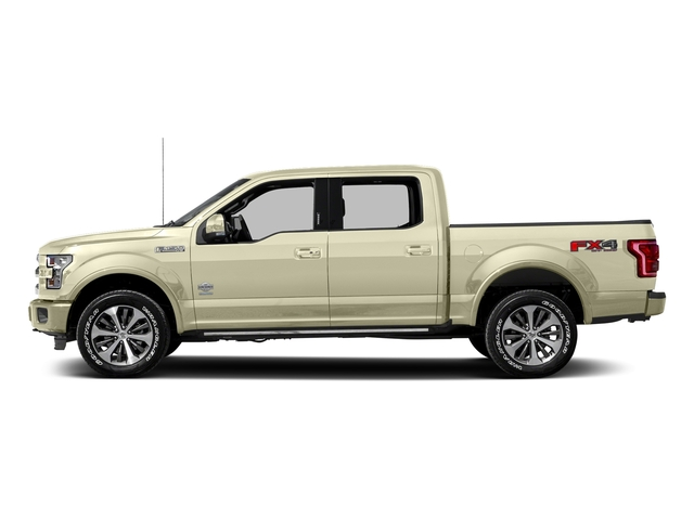 White Gold 2017 Ford F-150 Pictures F-150 Crew Cab King Ranch 4WD photos side view