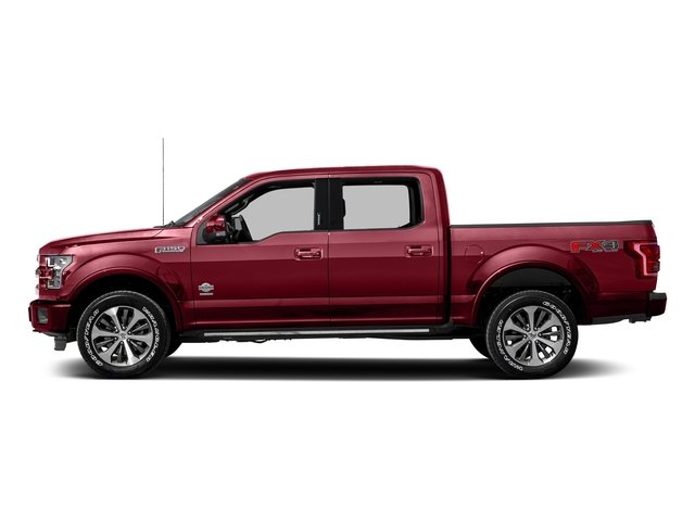 Ruby Red Metallic Tinted Clearcoat 2017 Ford F-150 Pictures F-150 Crew Cab King Ranch 4WD photos side view