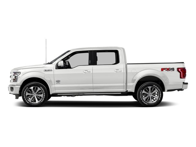 Oxford White 2017 Ford F-150 Pictures F-150 Crew Cab King Ranch 4WD photos side view