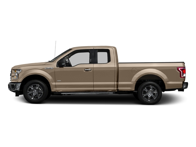 White Gold 2017 Ford F-150 Pictures F-150 Supercab XLT 4WD photos side view