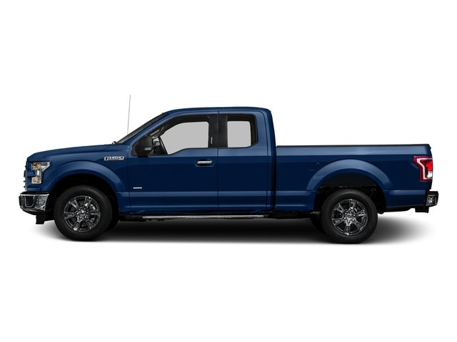Lightning Blue 2017 Ford F-150 Pictures F-150 Supercab XLT 4WD photos side view