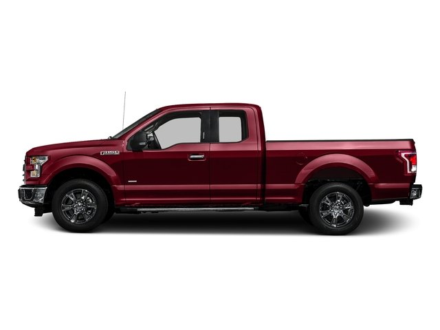 Ruby Red Metallic Tinted Clearcoat 2017 Ford F-150 Pictures F-150 Supercab XLT 4WD photos side view