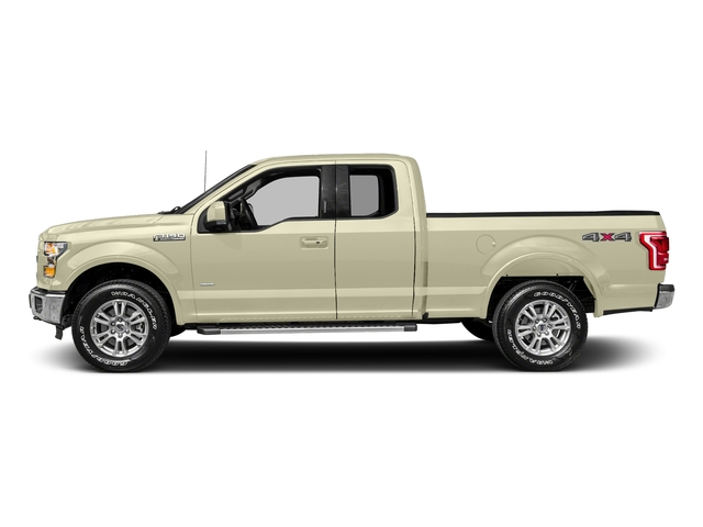 White Gold 2017 Ford F-150 Pictures F-150 Supercab Lariat 2WD photos side view