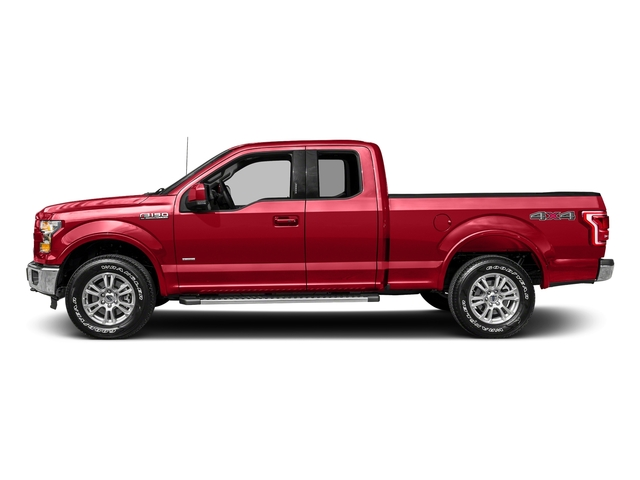 Race Red 2017 Ford F-150 Pictures F-150 Supercab Lariat 2WD photos side view