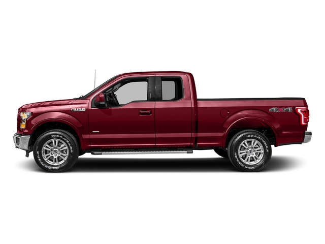Ruby Red Metallic Tinted Clearcoat 2017 Ford F-150 Pictures F-150 Supercab Lariat 2WD photos side view
