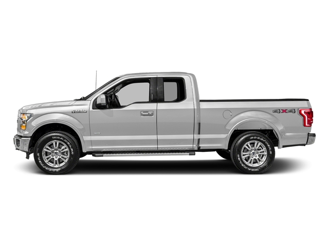 Ingot Silver Metallic 2017 Ford F-150 Pictures F-150 Supercab Lariat 2WD photos side view