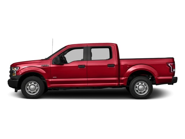 Race Red 2017 Ford F-150 Pictures F-150 Crew Cab XL 2WD photos side view