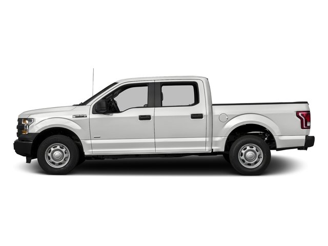 Oxford White 2017 Ford F-150 Pictures F-150 Crew Cab XL 2WD photos side view