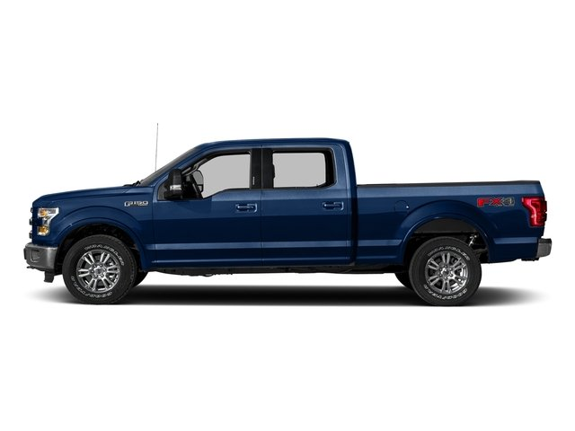 Lightning Blue 2017 Ford F-150 Pictures F-150 Crew Cab Lariat 4WD photos side view