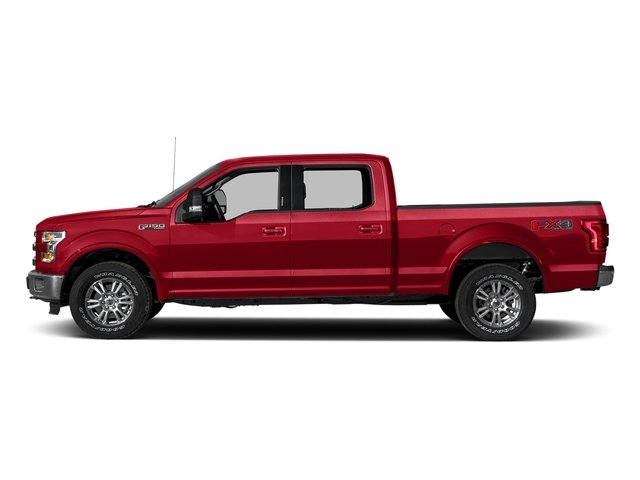Race Red 2017 Ford F-150 Pictures F-150 Crew Cab Lariat 4WD photos side view