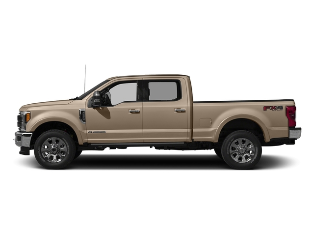 White Gold Metallic 2017 Ford Super Duty F-250 SRW Pictures Super Duty F-250 SRW Crew Cab King Ranch 4WD photos side view