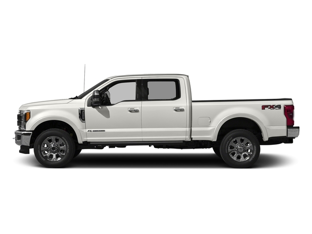 White Platinum Metallic Tri-Coat 2017 Ford Super Duty F-250 SRW Pictures Super Duty F-250 SRW Crew Cab King Ranch 4WD photos side view