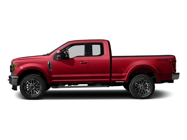 Race Red 2017 Ford Super Duty F-350 SRW Pictures Super Duty F-350 SRW Supercab Lariat 2WD photos side view