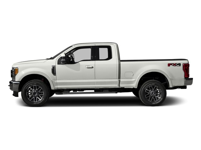 White Platinum Metallic Tri-Coat 2017 Ford Super Duty F-250 SRW Pictures Super Duty F-250 SRW Supercab Lariat 4WD photos side view