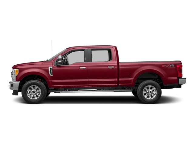 Ruby Red Metallic Tinted Clearcoat 2017 Ford Super Duty F-350 SRW Pictures Super Duty F-350 SRW Crew Cab XLT 4WD photos side view