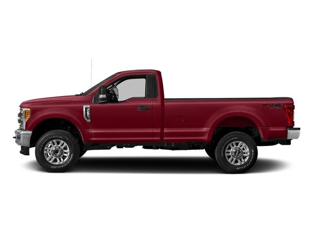 Ruby Red Metallic Tinted Clearcoat 2017 Ford Super Duty F-250 SRW Pictures Super Duty F-250 SRW Regular Cab XLT 2WD photos side view