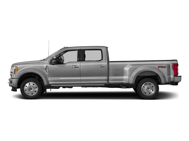 Ingot Silver Metallic 2017 Ford Super Duty F-450 DRW Pictures Super Duty F-450 DRW Crew Cab Platinum 4WD T-Diesel photos side view