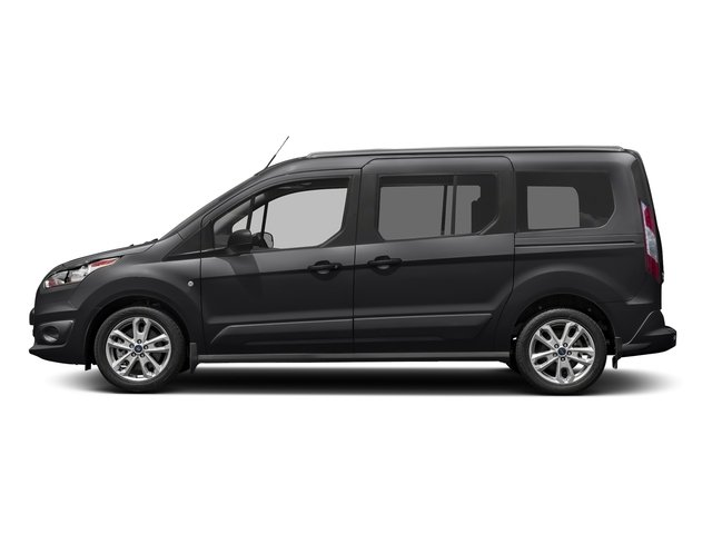 Shadow Black 2017 Ford Transit Connect Wagon Pictures Transit Connect Wagon Extended Passenger Van XLT photos side view