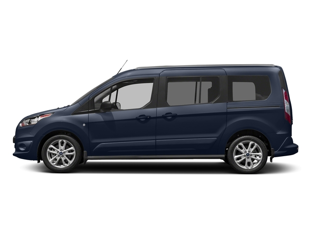 Dark Blue 2017 Ford Transit Connect Wagon Pictures Transit Connect Wagon Extended Passenger Van XLT photos side view