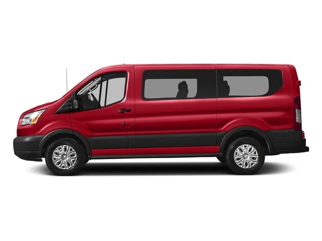 Race Red 2017 Ford Transit Wagon Pictures Transit Wagon Passenger Van XL Low Roof photos side view