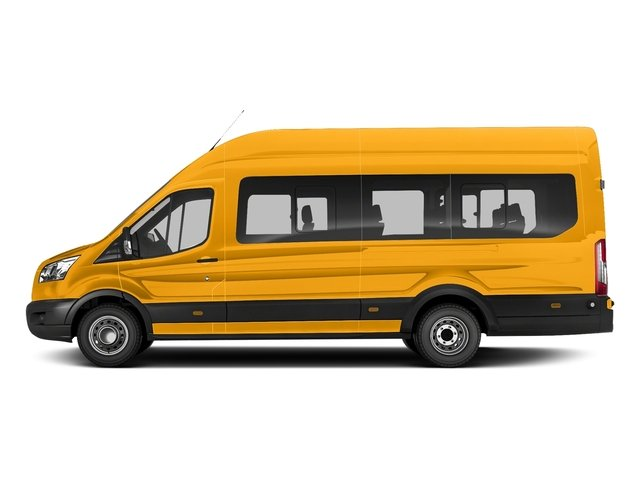 School Bus Yellow 2017 Ford Transit Wagon Pictures Transit Wagon Passenger Van XL High Roof photos side view