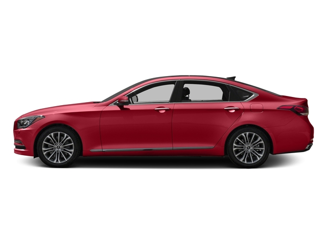 Sevilla Red 2017 Genesis G80 Pictures G80 3.8L AWD photos side view