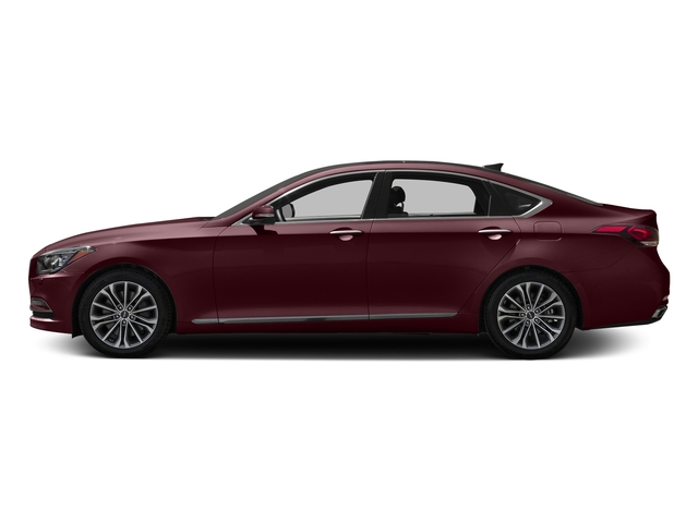 Pamplona Red 2017 Genesis G80 Pictures G80 3.8L AWD photos side view