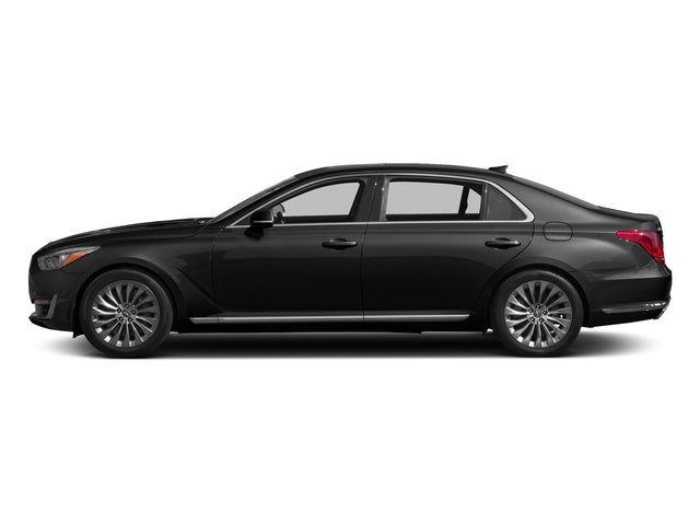 Caspian Black 2017 Genesis G90 Pictures G90 5.0L Ultimate RWD photos side view