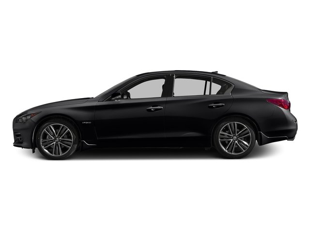 Midnight Black 2017 INFINITI Q50 Hybrid Pictures Q50 Hybrid Sedan 4D AWD V6 Hybrid photos side view