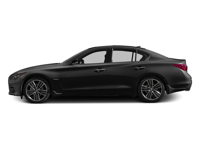 Black Obsidian 2017 INFINITI Q50 Hybrid Pictures Q50 Hybrid Sedan 4D AWD V6 Hybrid photos side view