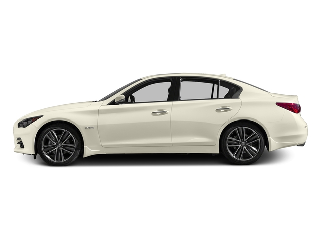 Majestic White 2017 INFINITI Q50 Hybrid Pictures Q50 Hybrid Sedan 4D AWD V6 Hybrid photos side view