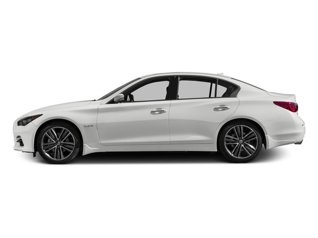 Pure White 2017 INFINITI Q50 Hybrid Pictures Q50 Hybrid Sedan 4D AWD V6 Hybrid photos side view