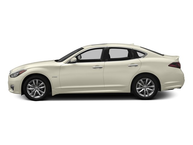 Majestic White 2017 INFINITI Q70 Hybrid Pictures Q70 Hybrid RWD photos side view