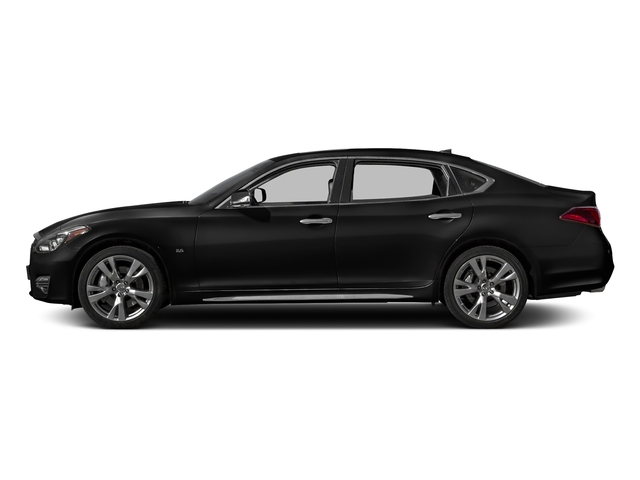 Black Obsidian 2017 INFINITI Q70L Pictures Q70L 5.6 RWD photos side view
