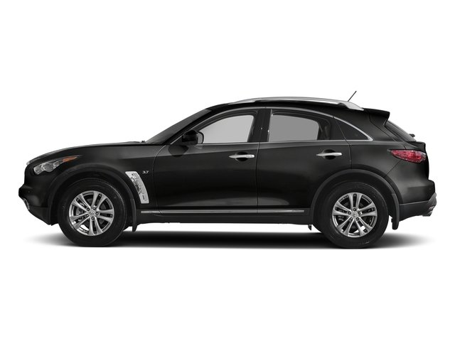 Black Obsidian 2017 INFINITI QX70 Pictures QX70 RWD photos side view
