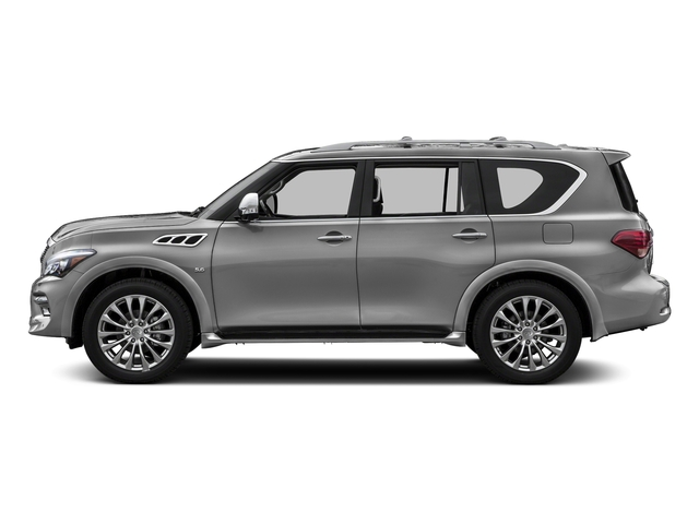 Liquid Platinum 2017 INFINITI QX80 Pictures QX80 AWD photos side view