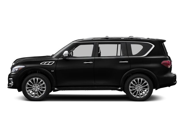 Black Obsidian 2017 INFINITI QX80 Pictures QX80 Utility 4D Signature 2WD V8 photos side view