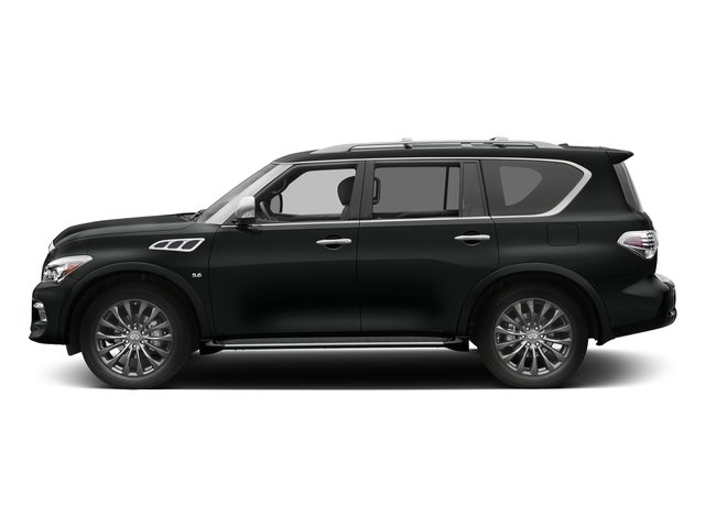 Imperial Black 2017 INFINITI QX80 Pictures QX80 Utility 4D Limited AWD V8 photos side view