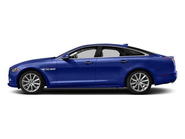 Caesium Blue Metallic 2017 Jaguar XJ Pictures XJ Sedan 4D R-Sport AWD V6 Supercharged photos side view
