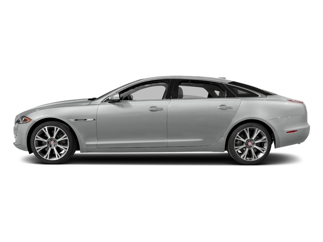 Rhodium Silver Metallic 2017 Jaguar XJ Pictures XJ XJL Supercharged RWD photos side view